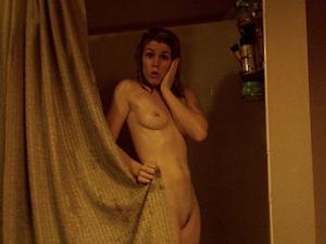 Emily Bett Rickards lit naked