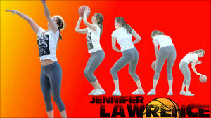 "Jennifer Lawrence ""Hoop Dreams"" Widescreen Wallpaper *Spandex*"